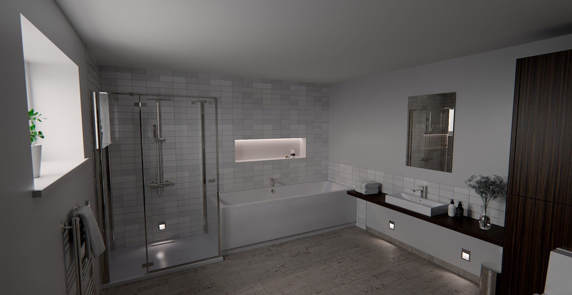 Bathroom, Interior, Exterior Lighting Designers